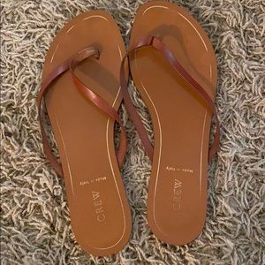 J. Crew leather flip flops made in italy size 8